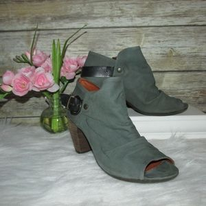 Fly London Ella Elve Taupe Green Blue Booties
